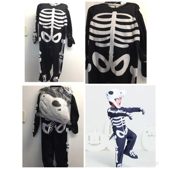 7e9d7cda46be3 T Rex Skeleton Costume & Toddler T-Rex Skeleton Child Costume Sc 1 ...